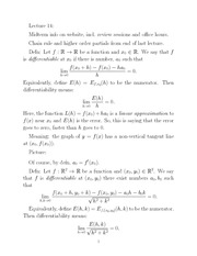 linear approximation notes