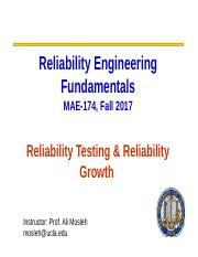 Lecture Module 8- Lecture Module 7- Reliability Testing and Growth.ppt