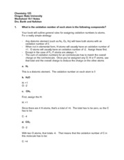 CH 123 Worksheet 18-1 Notes