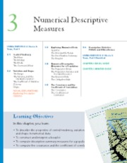 Chapter 3  Numerical Descriptive Measures(1)