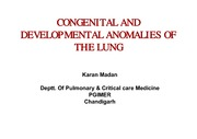 Congenital and developmental anomalies of the lung