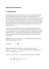 Statistical and Solid Physics Notes 3_1
