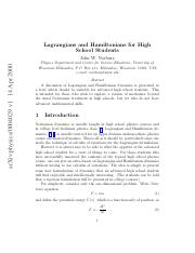 Lagrangian and Hamiltonian Physics for High School students.pdf