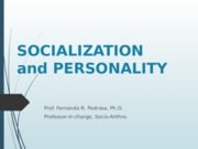 REVISED VERSION SOCIALIZATION & PERSONALITY