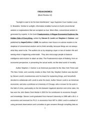 economics of human behaviour essay freakonomics martyna 5 pages freakonomics paper