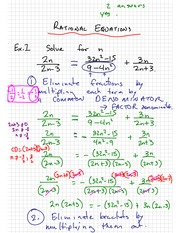 Rational Equation Notes