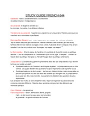 STUDY GUIDE FRENCH 644