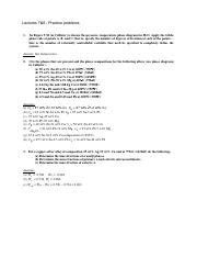 Lectures 7 and 8 - practice problems