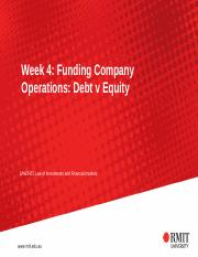 LIFM 2017  Lecture Week 4 Funding Company Operations  Debt vs Equity (1)(2).pptx