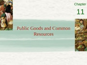 Chapter 11 - Public goods and common resources
