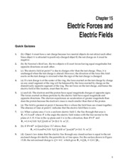 1_Chapter 15 HomeworkCH15 Electric Forces and Electric Fields