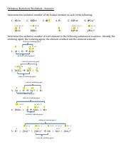 Oxidation and Reduction Worksheet, Answers (2).pdf