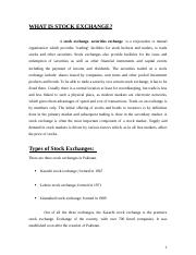 FUNCTIONS OF STOCK EXCHANGE (1)