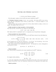 Vector Calculus Lecture Notes