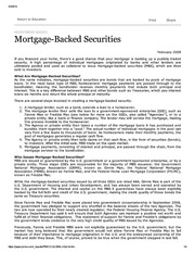PIMCO mortgage-backed securities