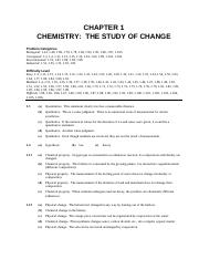 Chemistry Solution Chapter 1 Chemistry The Study Of