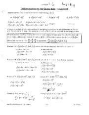Chain rule worksheet answers