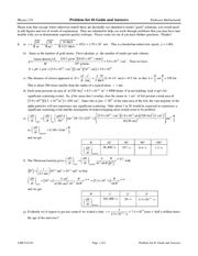 Problem Set 6 Solution on Modern Physics
