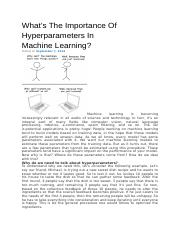 The Importance Of Hyperparameters.docx