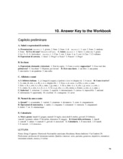 Italian Workbook Solutions