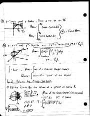 MAT 241 - Notes 6.2 Volume by Cross Section