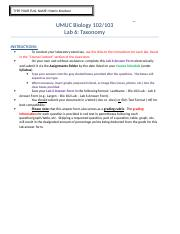 Knudson – Bio 102 Lab – Lab 6 Answer Form.doc