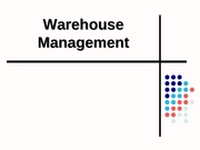 LSCM 360 - S08 WK 6 Warehouse Management