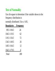 Normality Test