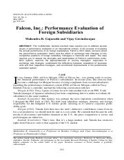 Falcon Incorporated - Performance Evaluation of Foreign Subs (handout).pdf