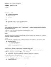 CMS.300 Session 15 Lecture Outline