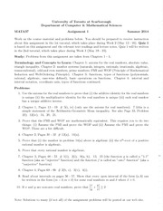 Calculus II for Mathematical Sciences Aassignment1 with solutions