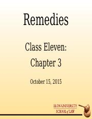 Remedies_Class Eleven PowerPoint Slides Oct 15 2015 TWEN.ppt