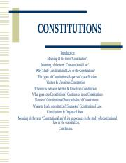 Chapter 1 Constitutions