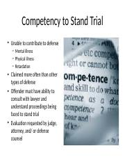 Competency to Stand Trial week 5.pptx