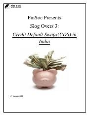 Slog Overs 3_Credit Default Swaps in India